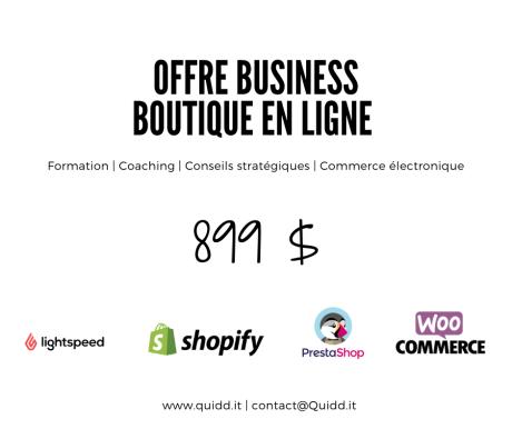 Offre Business - Boutique en ligne Quidd